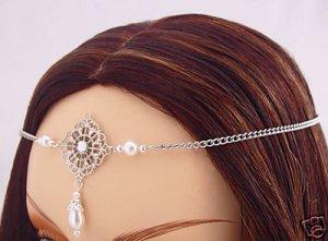Pearl Renaissance Elvish bridal Medieval CIRCLET crown