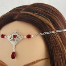 DEEP Red RENAISSANCE Medieval ELVEN tiara CIRCLET crown