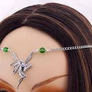GREEN  Renaissance FAIRY Medieval CIRCLET crown tiara