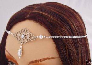 Pearl Renaissance LARP Medieval wedding CIRCLET crown