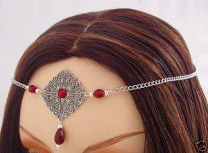 Burgundy RENAISSANCE Medieval Queen tiara CIRCLET crown