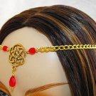 CELTIC RED renaissance sca medieval CIRCLET crown tiara