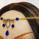 CELTIC Blue medieval ELVEN CIRCLET crown tiara diadem