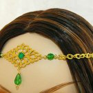 GREEN medieval renaissance ELViN CIRCLET crown tiara