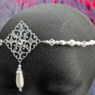 renaissance Pearl Circlet headpiece wedding crown tiara #1605