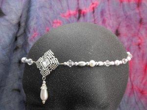Pearl Circlet headpiece wedding crown tiara LARP SCA #1610