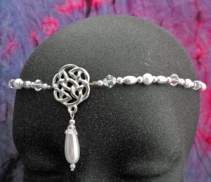 Pearl CELTIC Circlet renaissance wedding crown tiara #1612