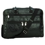 Briefcase with Embossed Alligator Grain Design