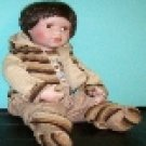 "16"" BRUNETTE PORCELAIN BISQUE COLLECTIBLE BABY DOLL"