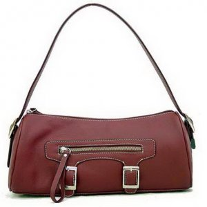 REDDISH-BROWN PVC FASHION HANDBAG