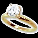 ONE CARAT  WHITE  DIAMOND  SOLITAIRE RING