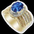 THREE CARAT TANZANITE DIAMOND RING