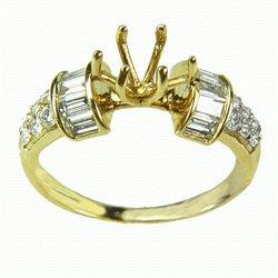 SEMI  MOUNTING  GOLD  DIAMOND  RING