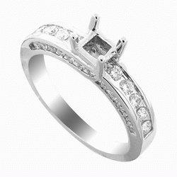 SEMI   MOUNTING  WHITE GOLD  DIAMOND  RING