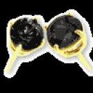 TWO  CARAT  BLACK  DIAMOND  EARRINGS