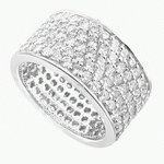 FIVE  CARAT  DIAMOND  WEDDING  RING