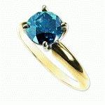 QUARTER  CARAT  BLUE  DIAMOND RING