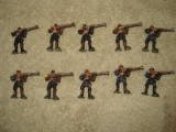 10 Miniature Pirate Rebel Figures Painted Warhammer
