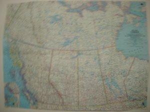 1966 Western Canada Map         Vintage
