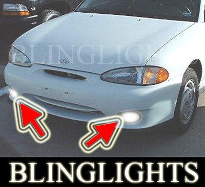 1995-1999 Hyundai Accent Fog Lamps Lights excel 97 98