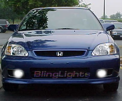 1999-2000 Honda Civic SI Xenon Fog Lights lamps 99 00