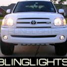 03-08 TOYOTA TUNDRA RED HALO FOG LIGHTS 04 05 06 lamps