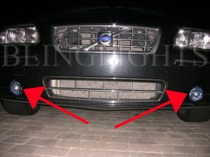 2001-2004 VOLVO S60 FOG LAMPS 2002 2003 driving lights