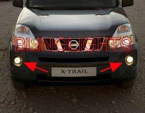 2008 2009 2010 NISSAN X-TRAIL ANGEL EYES FOG LAMPS HALOS LIGHTS LIGHT LAMP KIT XTRAIL HALO EYE