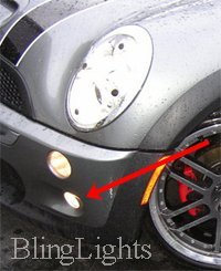 2005-2008 MINI COOPER CONVERTIBLE R52 XENON LOWER FOG LAMPS DRIVING LIGHTS KIT 2006 2007