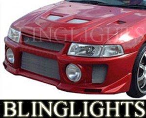 1997-2002 MITSUBISHI MIRAGE SILK EVO STYLE BODY KIT BUMPER FOG LAMPS LIGHTS LAMP 1998 1999 2000 2001