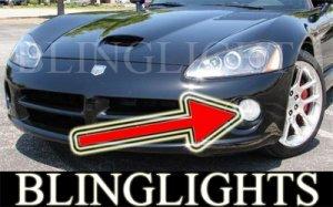 2003-2010 DODGE VIPER ANGEL EYE FOG LIGHTS HALO DRIVING LAMPS HALOS EYES LIGHT LAMP KIT 05 06 08 09