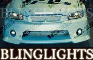 1996-2000 HONDA CIVIC VIS RACING BODY KIT BUMPER FOG LIGHTS DRIVING LAMPS LAMP 1997 1998 1999