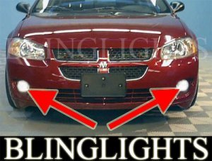2002-2006 DODGE STRATUS R/T SEDAN FOG LIGHTS DRIVING LAMPS LIGHT LAMP KIT 2003 2004 2005 RT