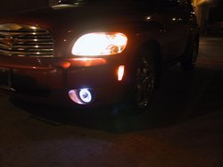 2006 2007 2008 2009 CHEVY CHEVROLET HHR ANGEL EYES FOG LIGHTS HALOS LAMPS HALO EYE LIGHT LAMP KIT