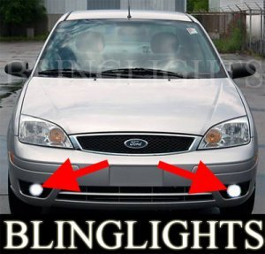 2005 2007 Ford Focus Zx4 Se Fog Lights Pair Driving Lamp 2006