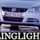 2006-2009 VOLKSWAGEN EOS FOG LIGHTS LAMPS sport 3.2 v6 2007 2008