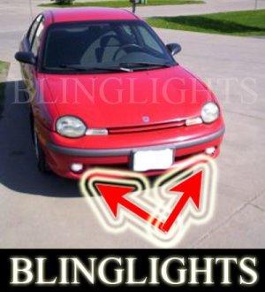 1995-1999 DODGE NEON SPORT FOG LIGHTS driving lamp 1996 1997 1998
