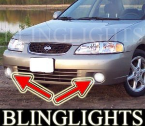 2000 2001 NISSAN SENTRA SE FOG LIGHTS PAIR driving lamp