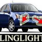 2009 2010 FORD FOCUS SEL SEDAN XENON FOG LIGHTS DRIVING LAMPS LIGHT LAMP KIT 09 10