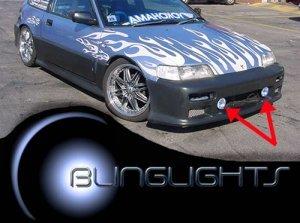 1988 1989 1990 1991 HONDA CR-X XENON FOG LIGHTS DRIVING LAMPS BUMPER LIGHT JDM LAMP KIT CIVIC CRX SI