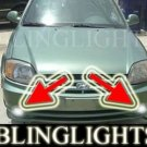 2003 2004 2005 Hyundai Accent Xenon Fog Lights Driving Lamps Kit