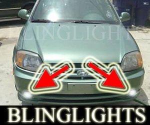 2003 2004 2005 Hyundai Accent Xenon Fog Lights Driving Lamps Kit