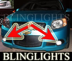 2009 CHEVROLET AVEO5 FOG LIGHTS PAIR driving lamp chevy