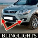2009 FORD KUGA BUMPER FOG LIGHTS PAIR driving lamps