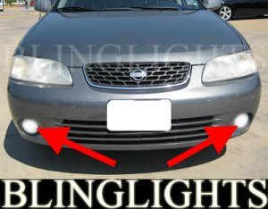 2000-2003 NISSAN SENTRA XE XENON FOG LIGHTS DRIVING LAMPS LIGHT LAMP KIT 2001 2002