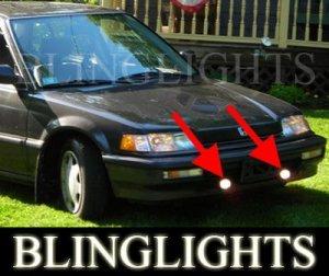 1990 1991 HONDA CIVIC EX SEDAN XENON FOG LIGHTS DRIVING LAMPS LIGHT LAMP KIT