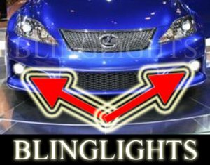 2009 2010 LEXUS IS-F LED XENON BUMPER FOG LIGHTS DRIVING LAMPS LIGHT LAMP KIT ISF IS F 09 10