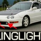 1994-2001 ACURA INTEGRA HALO FOG LIGHTS LAMPS LIGHT LAMP KIT 1995 1996 1997 1998 1999 2000 SPEC-R