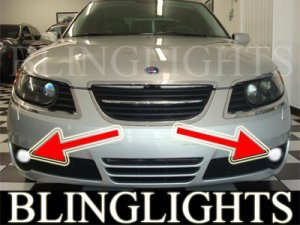 2006-2009 SAAB 9-5 SEDAN XENON FOG LIGHTS DRIVING LAMPS LIGHT LAMP KIT 2007 2008