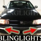 1988-1991 HONDA CIVIC DX LX FOG LIGHTS LAMPS DRIVING LIGHT LAMP KIT 1989 1990 HATCHBACK SEDAN